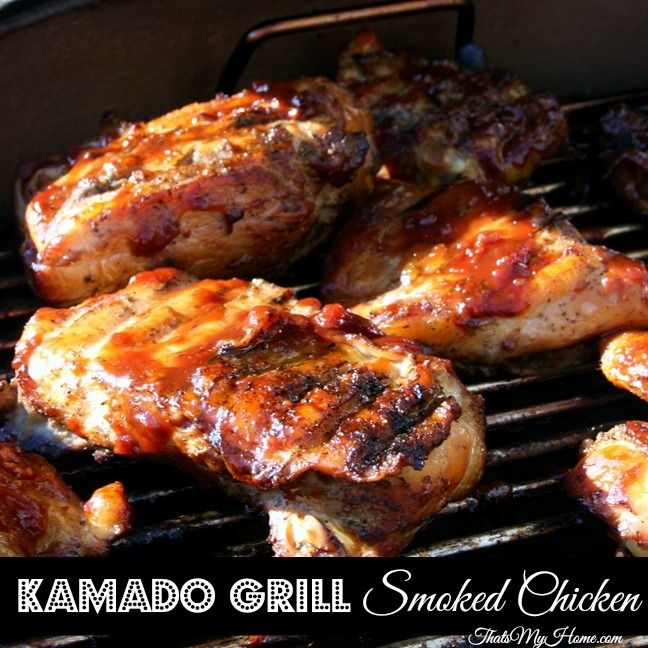Kamado Grill Smoked Chicken » Recipes, Food and Cooking  #kamadogrills #chickenrecipes #grillrecipes