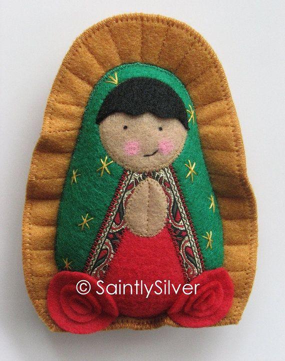 Our Lady of Guadalupe Felt Saint Softie por SaintlySilver en Etsy