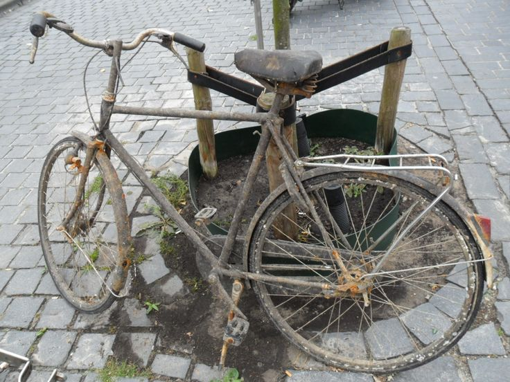 Bicycle which has been in the canal.