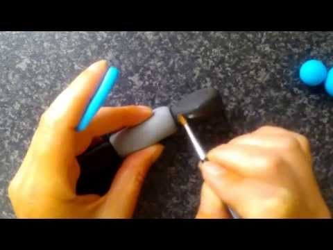 How to make a motorbike cake topper out of modelling icing part 2 by The Cake Tower - YouTube