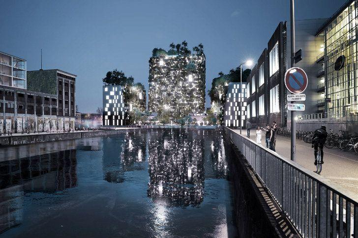 Proyecto de MVRDV busca convertir antiguos edificios industriales en un Oasis Urbano