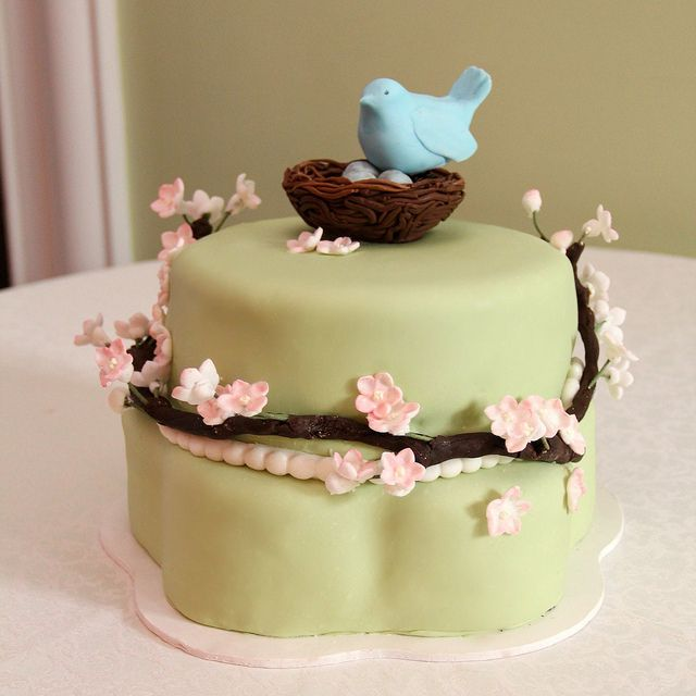 like the green color with the blue on this birdie cake: Shower Ideas, Decor Ideas, Baby Shower Cakes, Birds Cakes, Birds Nests, Balloon Ideas, Cakes Design, Photos Baby, Baby Shower