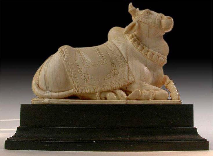 Shiva Bull Nandi. Carving. Circa 19th-early 20th century.