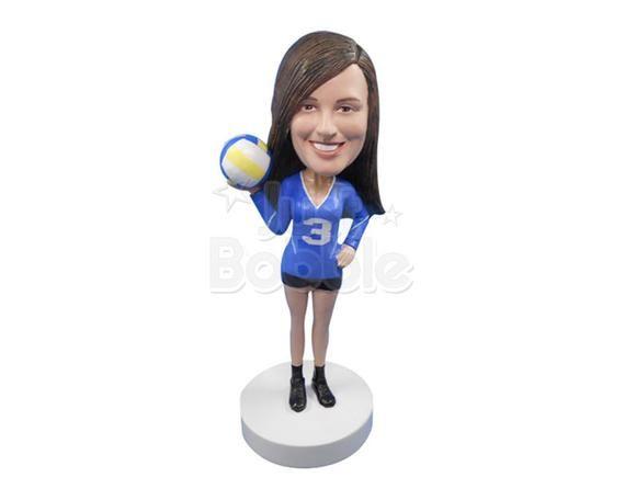 Custom Bobbleheads Female Volleyball Player Sport Custom Etsy In 2020 Bobble Head Female Volleyball Players Volleyball Players