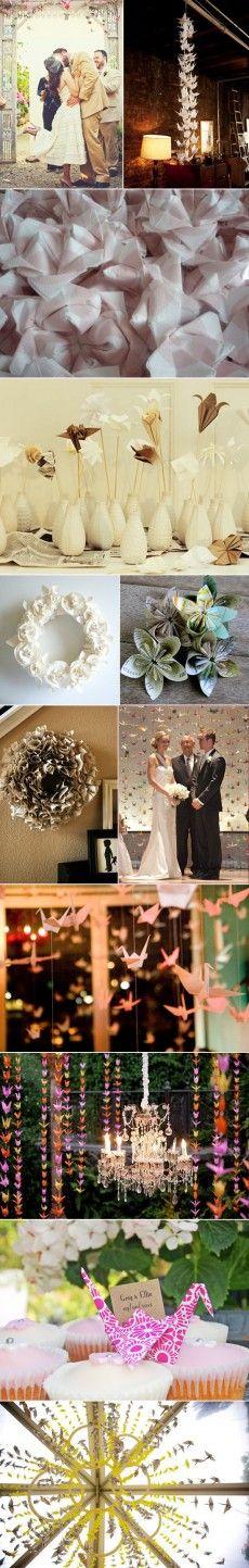 Mariage Origami, Deco Mariage, Idées Mariage, Mariage Japonais, Aa Mariage, Thèmes De Mariage, Voeux De Mariage, Noce, Décorations De Mariage