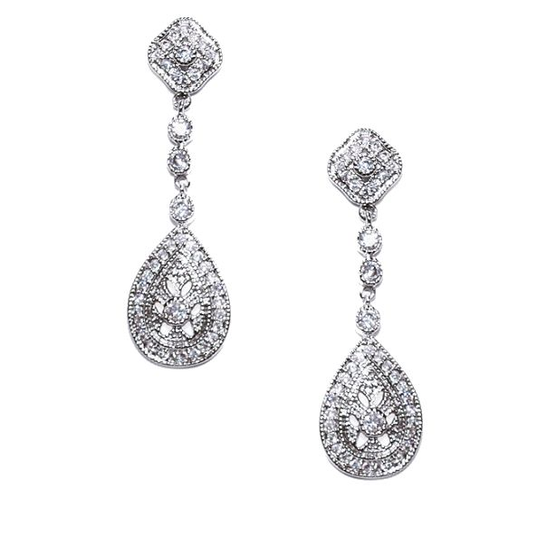 Ivory and Co Moonstruck Earrings - Bridal Jewellery - Crystal Bridal Accessories