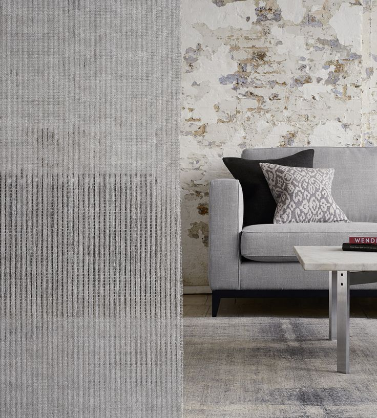 Contemporary grey interior | Haze Fabric by Mark Alexander | Jane Clayton