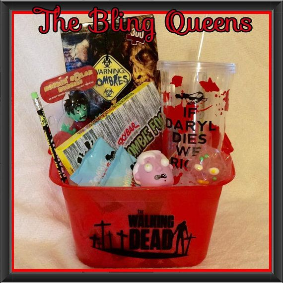NEW Walking Dead Zombie Gift Basket by MelodyPelham on Etsy
