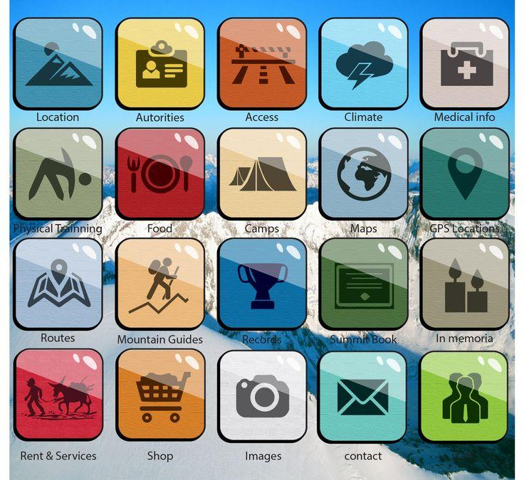 Icon set de Aplicación Aconcagua