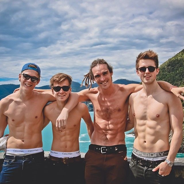 #LadsHoliday @caspar_leeo @joe_sugg @Marcus Hallenberg Butler - funforlouis's photo on Instagram