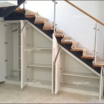 Practical alternative to dramatic stairway.
