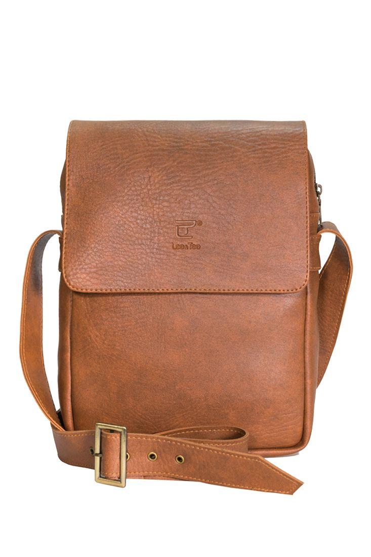 Túi đeo chéo Renew màu bò - Thương hiệu Lee&Tee