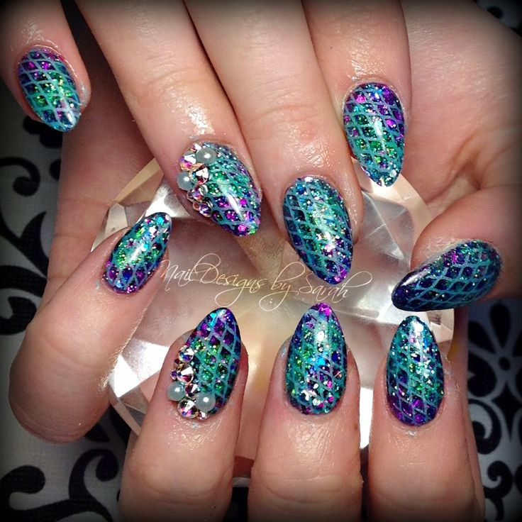 Mermaid Nail Art Acrylic Nails: 17 Best Images About Nail Designs On Pinterest