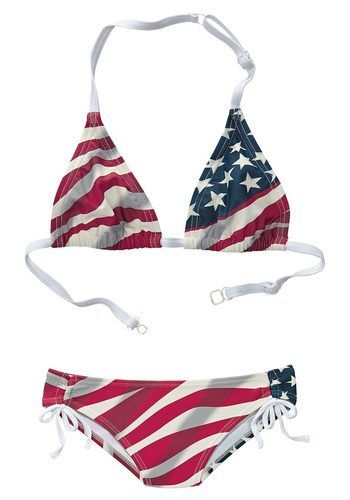 Triangel-Bikini, Buffalo ab 19,99€. Mit verstellbaren Trägern, Im Rücken zu schließen bei OTTO