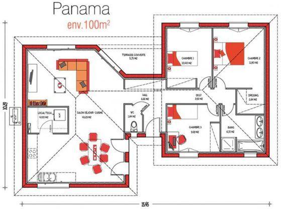 Modèle de maison Panama -  Retrouvez tous les types de maison à - logiciel de plan de maison gratuit