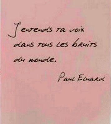 """I hear your voice in all the world's noise."" -Paul Eluard Scent...the language of all people, anywhere in the world.... I remember a scented letter...from my first France love...who I've met, but he eventually stayed in Paris..."