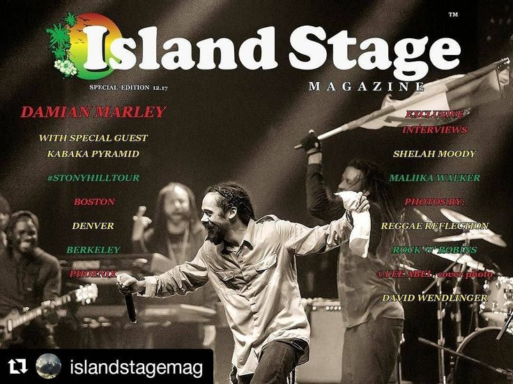 Big up to the @islandstagemag team! #DamianMarley#StonyHillTour Special edition now out! Cover  @leeabelphotography  #ReggaeReflection coverage of #Boston at @hobhouston included & lots more!  See link in Bio  #Repost @islandstagemag (@get_repost)  Happy Friday Fam! Here is our Island Stage Magazine coverage of Damian Marley's #StonyHillTour ft. Kabaka Pyramid. Exclusive photos #coverphoto (c) @ Lee Abel Photography Exclusive interviews within! FullJoy! Link in bio @damianmarley…