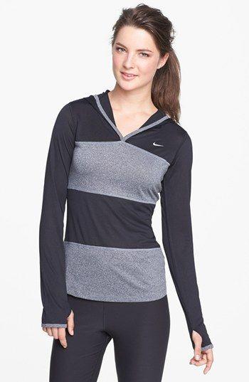 elite dri-fit running hoodie / nike