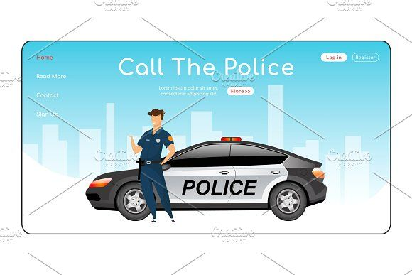 Call Police Landing Page Landing Page Police Homepage Layout