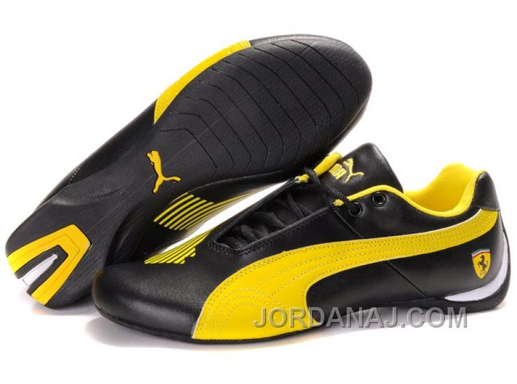 Men's Puma Schumacher Trainers Yellow/Black shoes online hot sale