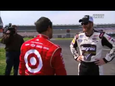 Juan Pablo Montoya & Dale Earnhardt drifting a Chevrolet Camaro.