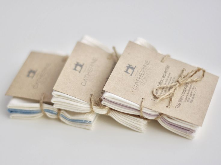 The little essential cloth - Small soft organic cotton jersey washcloths or baby wipes - 3 pack by CatherineSoucy on Etsy