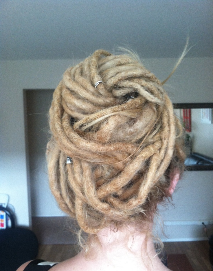 dreads - up-do