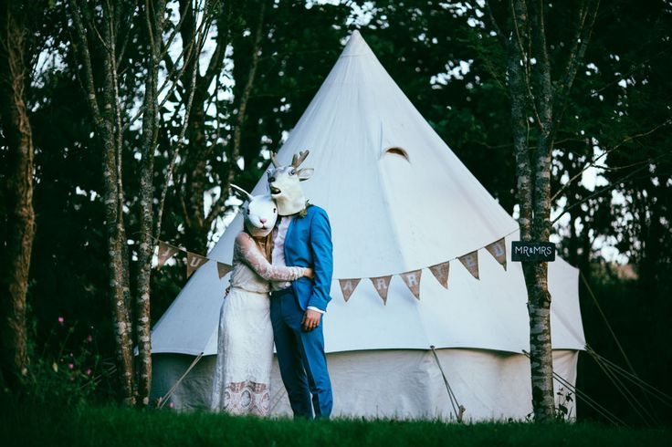 Bohemian Woodland Wedding in Cornwall