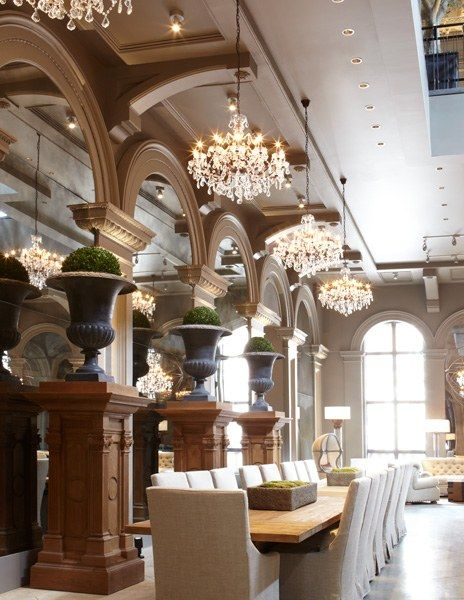 Restoration Hardwares Boston Flagship Store Opens In A Historic Building Hardware TableResidential Interior DesignLuxury