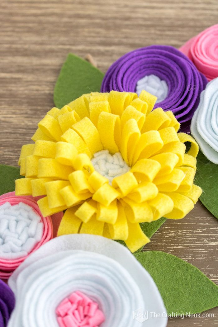 How To Make Easy And Cute Felt Flowers Felt Flower Tutorial