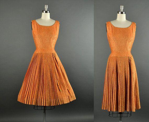 1960s Dress / Anne Fogarty metallic party dress by NodtoModvintage