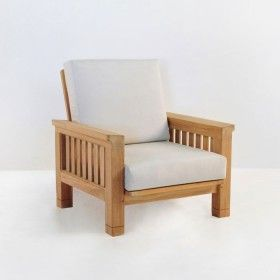 Raffles Teak Outdoor Club Chair