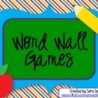 Four different games to help your students become familiar with your classroom word wall.  The games work with any set of words.  Included are game...
