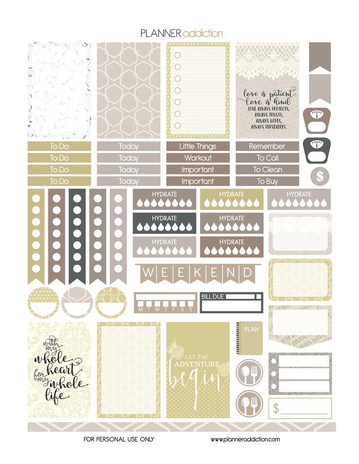 Free Printable Planner Stickers - Wedding - Happy Planner