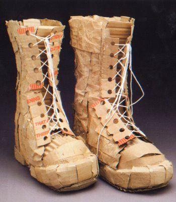 Cardboard boots