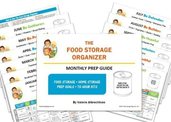 The Food Storage Organizer: Monthly Prep Guide. Gather a week or month at a time along with your regular grocery shopping. $12.00 go to foodstorageorganizer.com