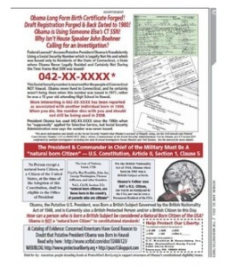 Commander Kerchner is leading an effort to contact Speaker Boehner and has placed another brilliant ad in the Washington Times 20 Jun 2011: Obama Forged Long Form Birth Certificate - Why Isn't U.S. House Speaker Boehner Investigating? Washington Times National Weekly