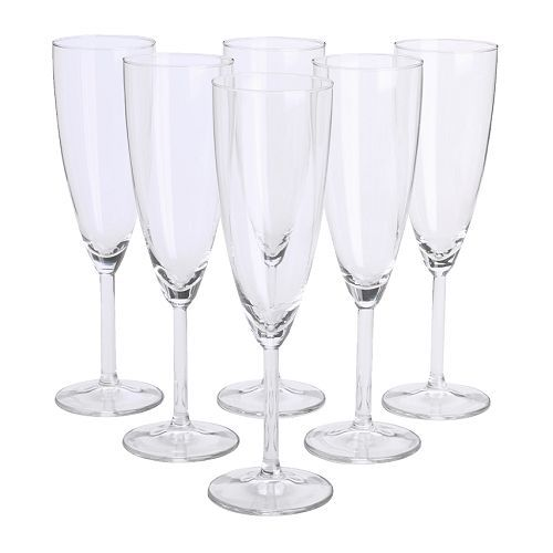 IKEA - SVALKA, Champagne flute, The glass has a tall, slender shape which keeps the bubbles alive for longer, enhancing your experience of the champagne or sparkling wine.