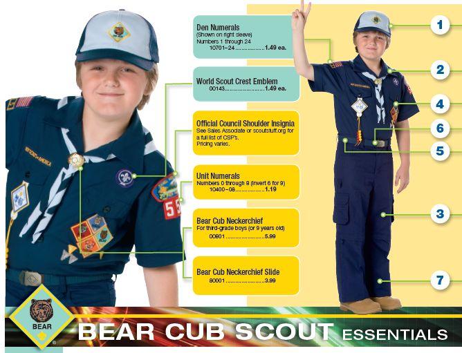 Bears Uniform Patch Placement Bear Uniform Boy Scouts