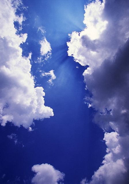 Beautiful Blue Sky & Pretty Clouds; clouds and sky like this make me think of God. :)