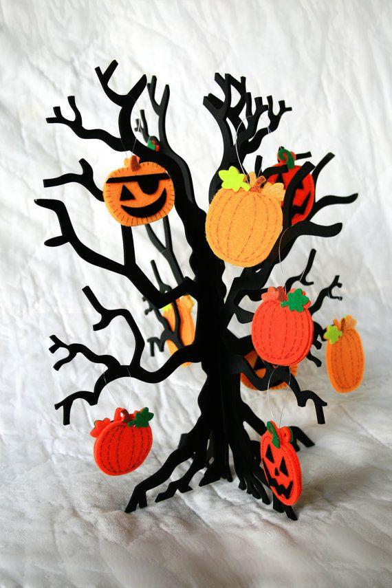 Halloween tree felt ornaments