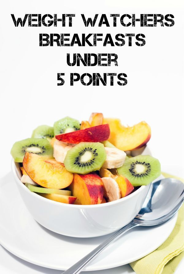 Weight Watchers Breakfasts Under 5 Points