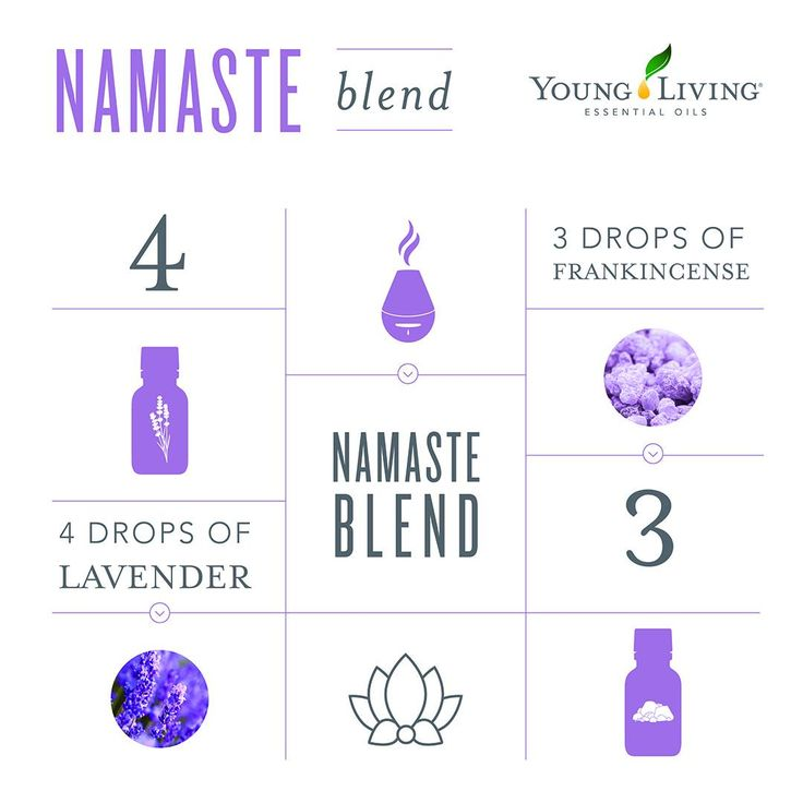 Young Living Essential Oils:  Namaste Blend | There might not be any better essential oil combo for your yoga practice than these two.  WWW.THESAVVYOILER.COM
