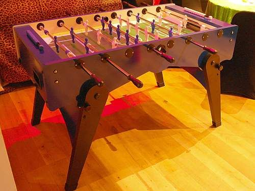 Table football can be played by two teams of two players each or by two individuals. The object of the game is to be the first team or player to score a pre-determined number of points or to score the most points in a given amount of time. Area required 4' x 4'. Available for hire & based near London.