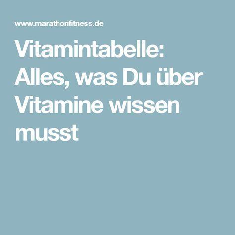 Vitamintabelle: Alles, was Du über Vitamine wissen musst