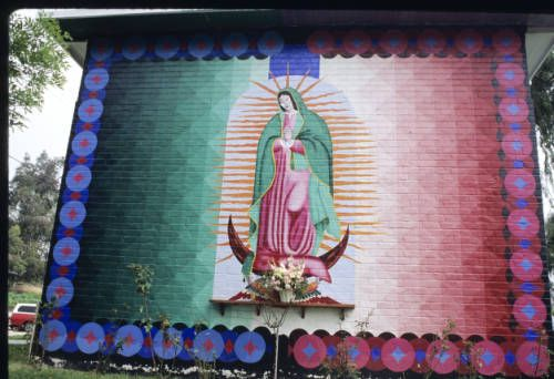 The murals of Estrada Courts. Virgin of Guadalupe, Los Angeles, 1973. http://digitallibrary.usc.edu/cdm/ref/collection/p15799coll15/id/996