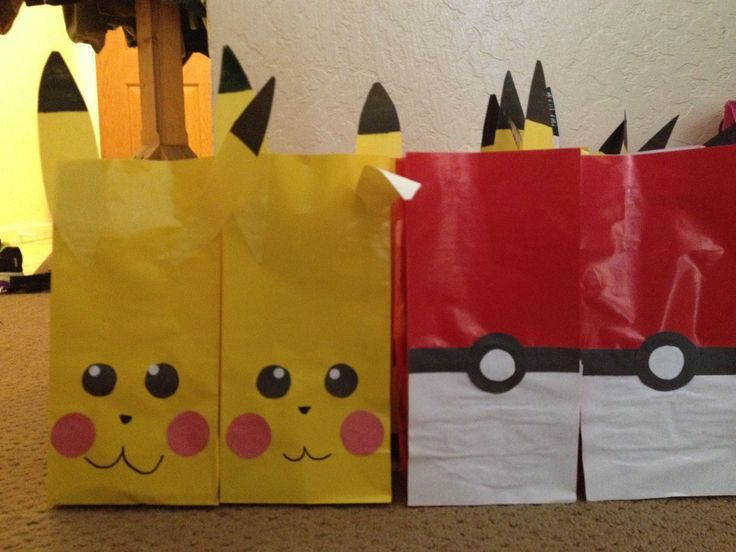 Homemade Pokemon Goody Bags Pokemon Party Ideas
