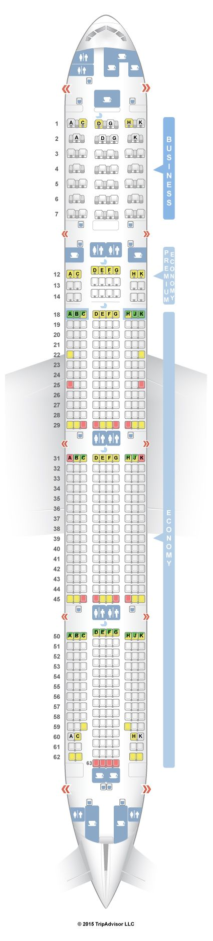 SeatGuru Seat Map Air Canada Boeing 777-300ER (77W) Three Class V1 - SeatGuru