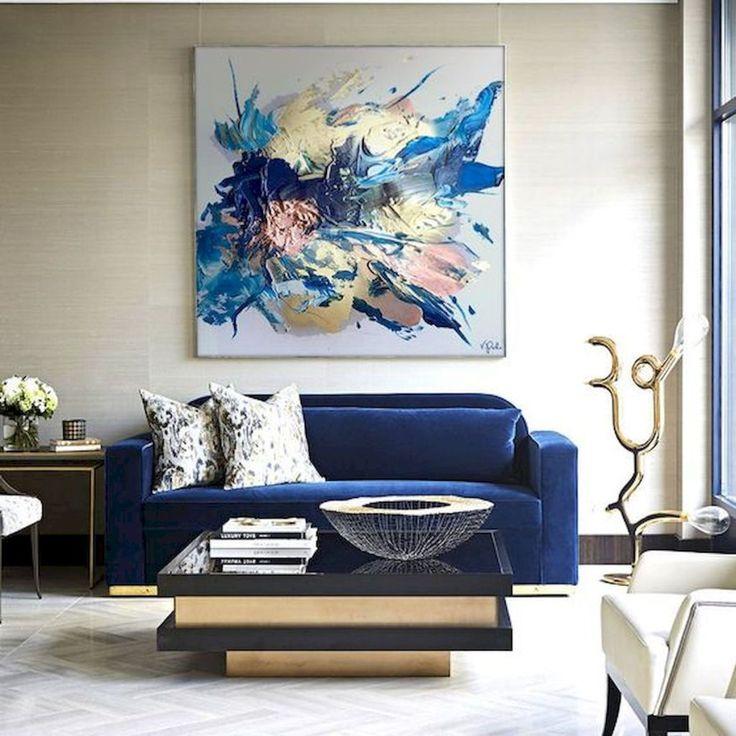 картинки на стену для интерьера в синем чистый