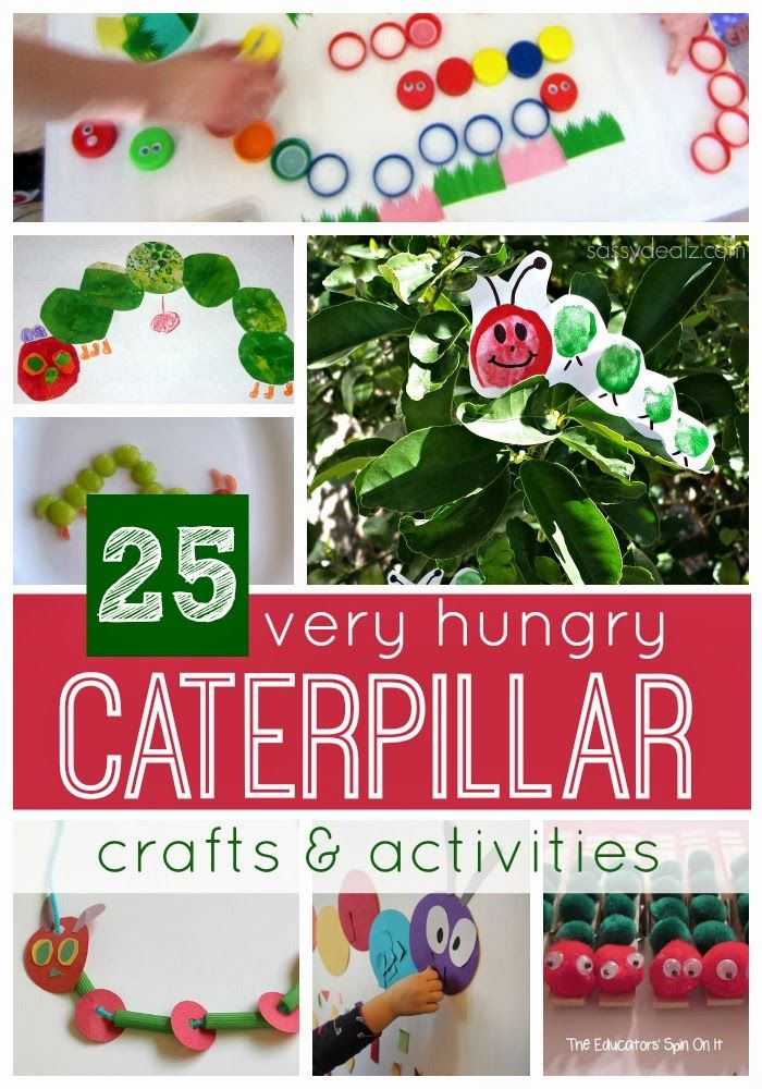 Toddler Approved!: 25 Very Hungry Caterpillar Crafts & Activities {45...